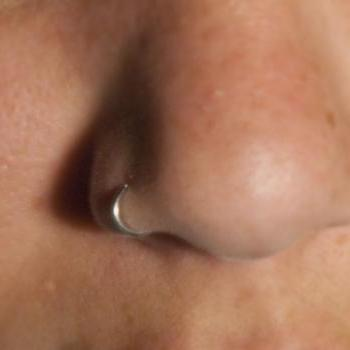 Nose Ring Cuff (silver) Body Jewelry - No piercing required